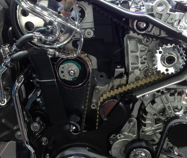 close up image of an engine